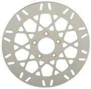 rotor del freno delantero de malla de acero inoxidable - Se adapta a: 08-16 FLHT, FLHR, FLHX, FLTR, H-D FL triciclo, 14-16 FLHRC, 06-16 Dyna (Con círculo de pernos 3,25 pulgadas)