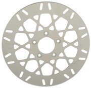 TC-Choppers brake rotor Front Mesh Stainless Steel - Fits:> 08‑16 FLHT FLHR FLHX FLTR H‑D FL trike 14‑16 FLHRC 06‑16 Dyna (With 3 25 inch bolt circle)