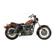 Paughco exhaust Slash cut pipes (38 inch) - Fits:> 57-85 Sportster XL (exclude. 1979 XL)