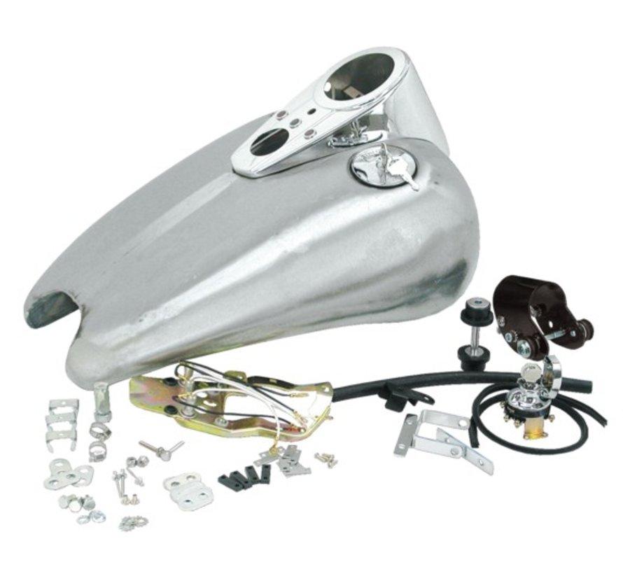 Harley Davidson benzinetank 2 inch stretched rubber mount sportbob Past op:> 95-03 Sportster XL