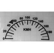 TC-Choppers speedo speedometer Recalibration sticker 10 cm  Fits: > 1996-2017 HD with  10 cm (3 7/8 inch) diameter speedo