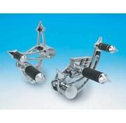 voetbediening aluminium gladde stuurknuppelsets voor FX FL en Softail
