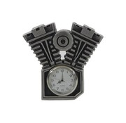 TC-Choppers Motorcycle clock with silver patina finish
