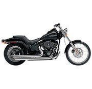 Cobra exhaust Speedster slash down with powerport Chrome - 86-06 Softail