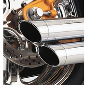 Cobra exhaust Speedster Slash Down Chrome - 91-05 Dyna
