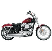 Cobra exhaust Speedster Slash Down with Powerport Chrome 04-06 Sportster XL