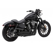Cobra Speed ​​Schwarz Kurz Swept Full Exhaust: 14-16 Harley XL Sport