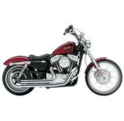 Cobra Chrome Speedster Short 2 into 2 Full Exhaust; Harley Sportster XL 07-13
