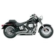 Cobra Uitlaatsysteem Speedster Short Swept chroom en hitteschilden; Voor alle 86-06 FXST / FLST-modellen,