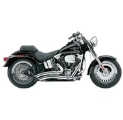 Cobra Exhaust system Speedster Short Swept chrome heat shields; For all 12-16 FXST/ FLST models