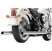 Cobra Das Abgassystem Echte Duals Chrome; Für 07-11 FLST / FXCWC / FXST Modelle