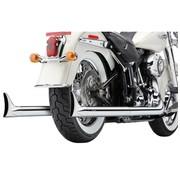 Cobra Das Abgassystem Wahre Duals mit fishtails Chrome; Für 07-11 FLST / FXCWC / FXST Modelle