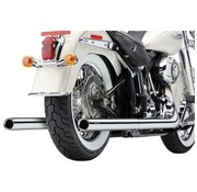 Cobra Exhaust system true Duals with fishtails Chrome; 97-06 FLST/ FXST