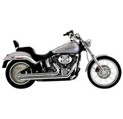 Cobra Exhaust system Speedster Slash Down chrome heat shields; For all 12-16 FXST/ FLST models,