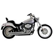 Cobra Uitlaatsysteem Speedster Slash Down chroom en hitteschilden; Voor alle 12-16 FXST / FLST-modellen,