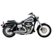 Cobra Exhaust system Speedster Short Swept chrome heat shields; For all 12‑16 Dyna models (except FLD),