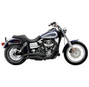 Cobra Exhaust system Speedster Short Swept black; For all 12‑16 Dyna models (except FLD)