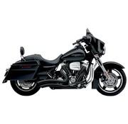 Cobra Auspuffanlage Speed Kurze schwarze Hitzeschilde Swept; Für alle 10-16 FLHT / FLHR / FLHX / FL Trike Modelle