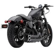Cobra El sistema de escape Speedster corto con POWERPORT Negro con puntas de aluminio mecanizadas galvanizadas; Por 14-16 XL