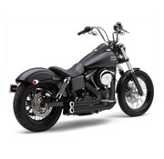 Cobra Exhaust Full System Speedster Short RPT Black; For Dyna 06-11 models