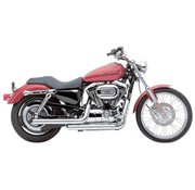 Cobra Exhaust system Dragster staggered chrome; For XL Sportster 07 - 13