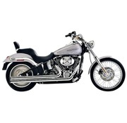 Cobra Exhaust system Speedster Long Chrome heat shields; For Softail 2007 - 2011
