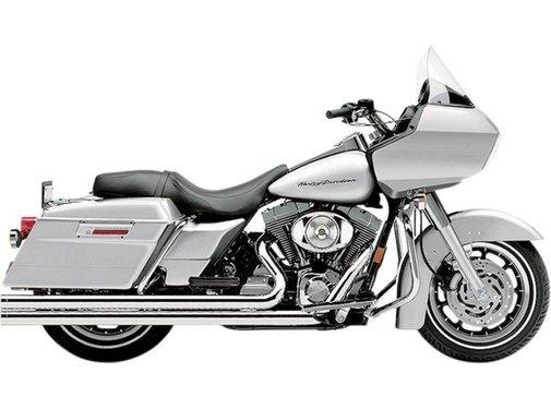 Cobra Exhaust system Speedster Long Chrome heat shields; For FLH/T 1995 - 2006