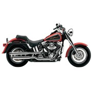 Cobra Harley exhaust 3 inch slip-on mufflers chrome; for 00-06 FLSTF