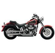 Cobra Harley uitlaat 3 inch slip-on uitlaatdempers chroom; voor 00-06 FLSTF
