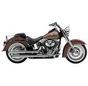 Cobra Harley exhaust 3 inch slip-on mufflers chrome; for 07-16 FLSTN