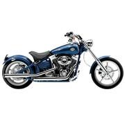 Cobra Harley exhaust 3 inch slip-on mufflers chrome; for 07-11 FXCW Rocker