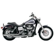 Cobra Harley exhaust 3 inch slip-on mufflers chrome; for 95-16 FXD