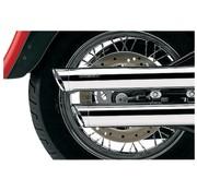 Cobra exhaust 3 inch slip-on mufflers chrome; 08-16 FXDF