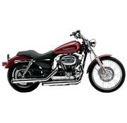 Cobra Harley exhaust 3 inch slip-on mufflers chrome; for 04-13 XL Harley Davidson Sportster