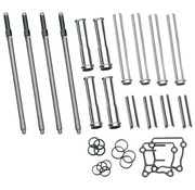 S&S adjustable pushrod kit with covers ; for 99‑17 Twin Cam