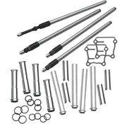 """S&S adjustable quickiee pushrod kit with covers ; Fits: > 99-17 TCA/B  With 88"""" up to 124"""" engines"""