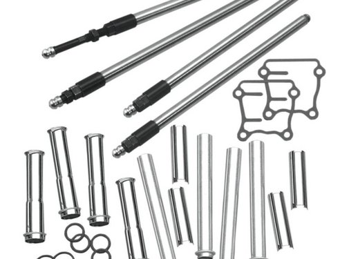 S&S Harley Engine adjustable quickiee pushrod kit with covers ; for 99‑16 Twin Cam