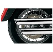 Cobra Slip-On Silenciador - Chrome, modelos A / B / C / S 00-06 Softail FXST