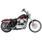 Cobra exhaust Slip-On Muffler - Black Sportster XL 1200V Seventy-Two
