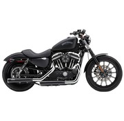 Cobra exhaust Slip-On Muffler 3 inch RPT - Black 14 - 16 Sportster XL