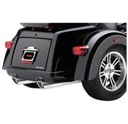 Cobra exhaust Slip-On Twin Mufflers - Chrome for Tri-glide