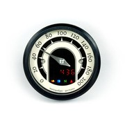 Motogadget Speedo Motoscope tiny 49mm analoge speedo - Klassiek zwart of gepolijst