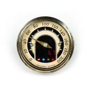Motogadget Speedo Motoscope tiny 49mm analog speedo - Vintage Brass bezel