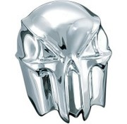 Kuryakyn Kuryakyn, Skull horn cover Chrome Fits: > 93-20 H-D