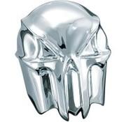 Kuryakyn la cubierta del cráneo del cuerno - cromo / negro