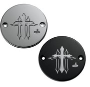Carl Brouhard Design Point cover cross series Fits:> 1970-1999 Evo 1999-up Twincam and Sportster XL 86-14