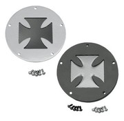 primary derby cover  steel in Chrome or wrinkle black Fits:> 1970-2013 Big Twin models