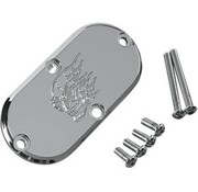 Joker Machine primary inspection cover - hothead for for 65-06 Big Twins and 86-up FXST/FLST FXWG and 93-05 FXDWG
