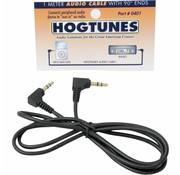 Hogtunes câble audio stéréo d'un mètre à 90 ° extrémités