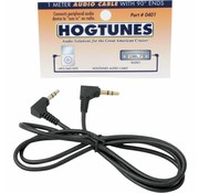Hogtunes cable de audio estéreo de un metro con 90 ° extremos